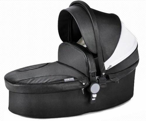 carreola bebe europea hot mom de piel travel system negra
