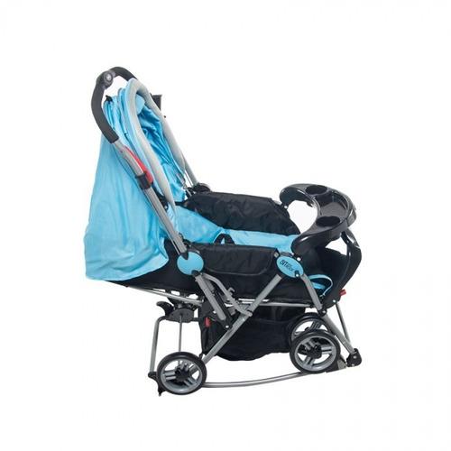 carreola carriola mecedora niño bebe negro/azul infanti
