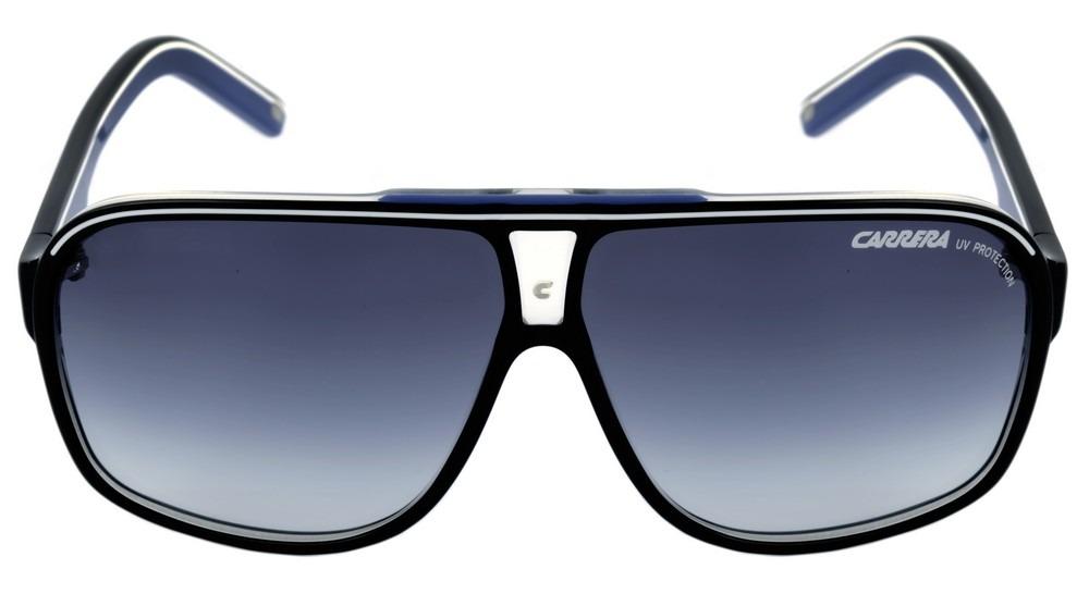 930e281fc9c1f Carrera Grand Prix 2 - Óculos De Sol S T5c 08 Preto E Azul  - R  349 ...