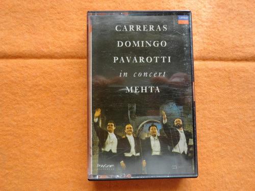 carreras - domingo - pavarotti - mehta - vivo - cassette