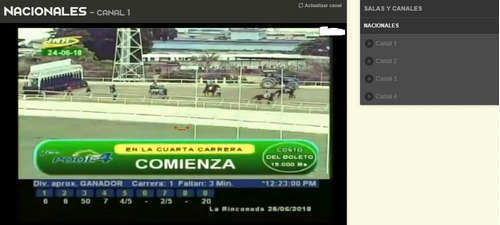 carreras nacionales video hipico por internet señal hipica