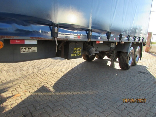 carreta 2 eixos baú sider 12,20m - c/ pneus