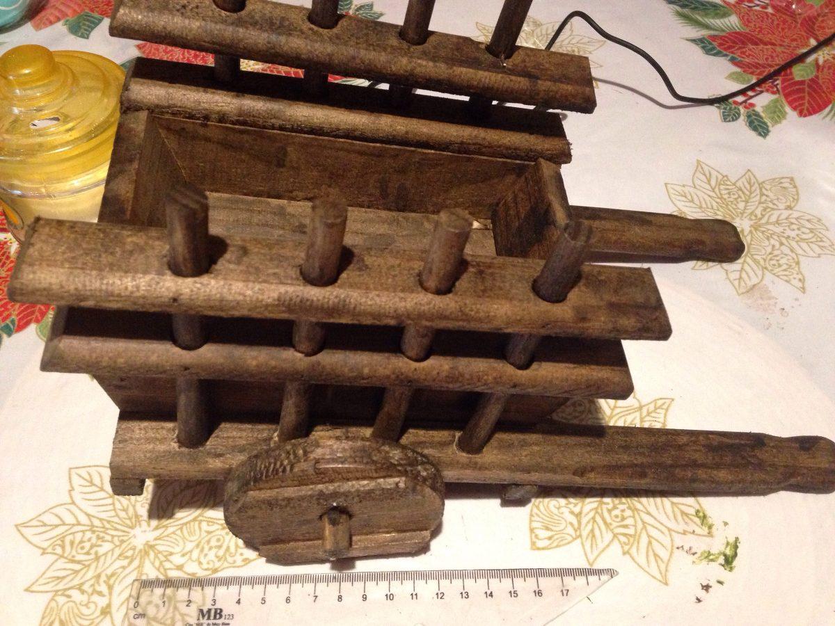 Carreta artesanal de madera para plantas en for Carreta de madera para jardin