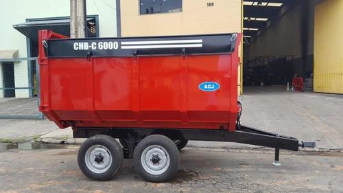 carreta basculante hidráulica 7 ton rodado tanden