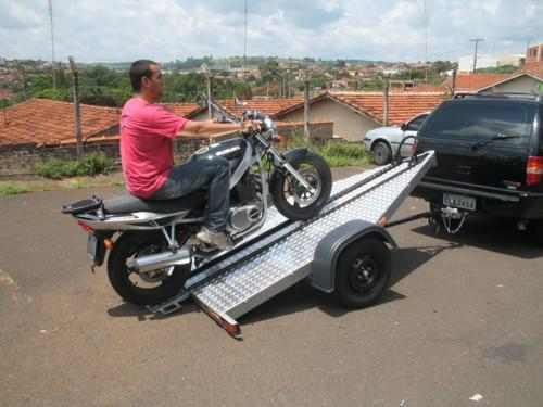 carreta basculante para transp de moto bravo chassi 09