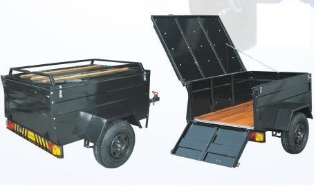carreta baú 1,10x1,10 fechada -   free hobby  - reboque