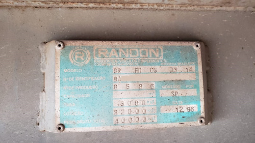 carreta bau 15 m 28 paletes 03 eixos, randon, ano 96, 97, 98