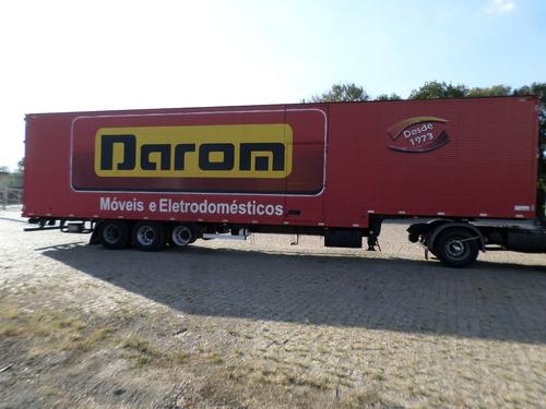 carreta bau 3 eixos facchini ano 2014 15,30 m s/ pneus