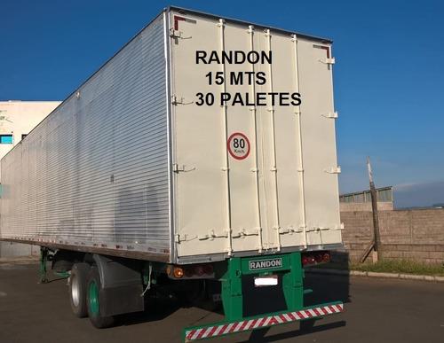 carreta baú 30 paletes 3 eixos randon