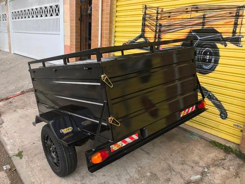 carreta baú - carretinha bau 1.60 x 1.15 x 0.60 - 0km