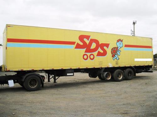 carreta baú facchini 2001 13,60mt r295 disco (5361)