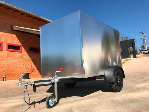 carreta baú furgão 118 fech. alumínio eurocar chassi 03