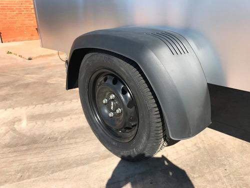 carreta baú furgão 118 fech. alumínio eurocar chassi 04