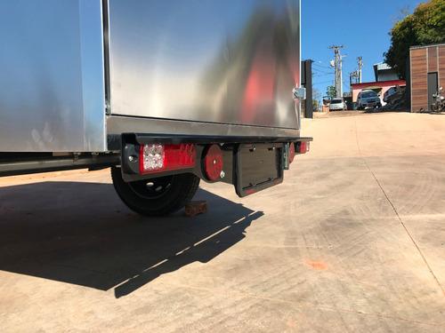 carreta baú furgão 118 fech. alumínio eurocar chassi 05