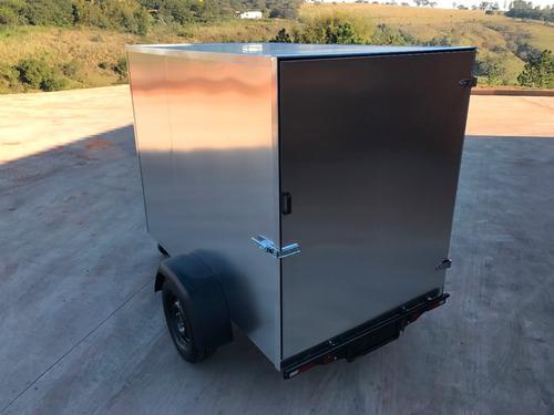 carreta baú furgão 143 fech. alumínio eurocar chassi 02