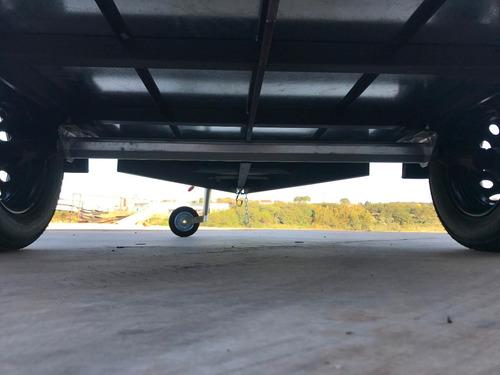 carreta baú furgão 143 fech. alumínio eurocar chassi 04