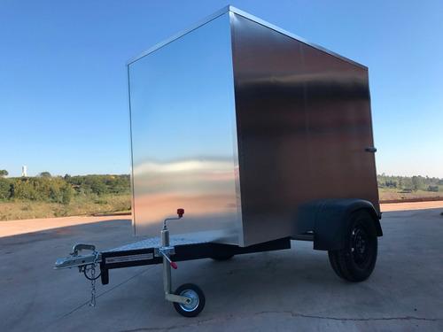 carreta baú furgão 143 fech. alumínio eurocar chassi 05