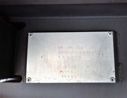 carreta baú randon 1 eixo 2002 suspensão a ar