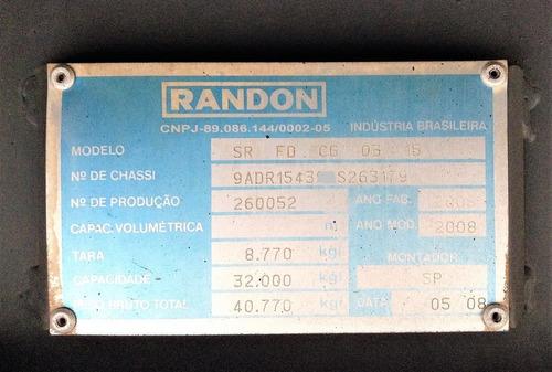 carreta baú seco randon 15,40 m. 2008 / 2009 s/ pneus