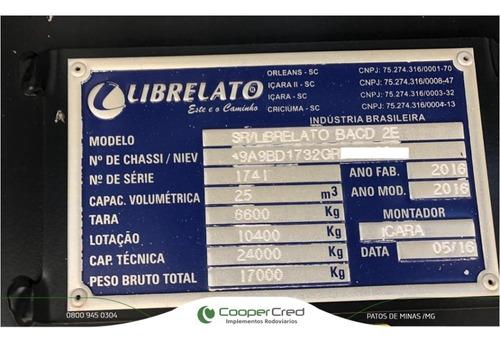 carreta bi-caçamba basculante 16/16  s/ pneus revisada