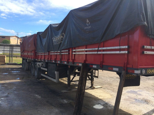 carreta bi trem comp 7,5 semi novo, com pneu, 2 lonas