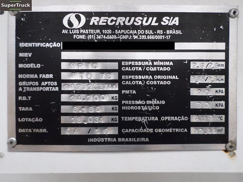 carreta bitrem tanque recrusul 4 bocas sistema botton 45000l