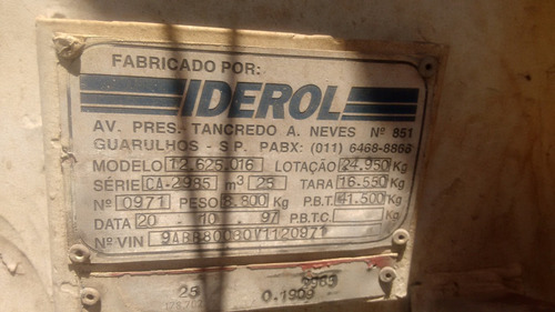 carreta caçamba toco 97/98 r295 disco / s/pneus (1772)