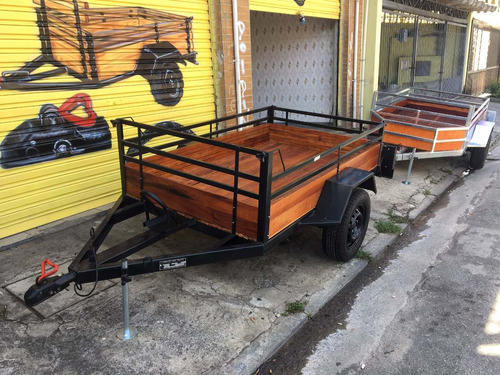 carreta carga e moto - carretinha carga e moto 0km preta