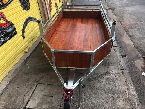 carreta carga e moto com caixa - carretinha carga e moto
