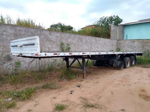 carreta carga seca fachini 2006 com lock sem pneus troco