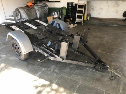 carreta carretinha 3 motos