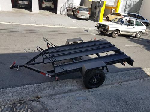 carreta carretinha reboque 3motos speed - 600 kg 2x1,40