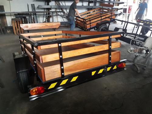 carreta carretinha reboque carga moto 2x1,30 3290 6x s/jur