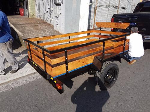 carreta carretinha reboque fazendinha 2x1,30 2790,00 - 700kg