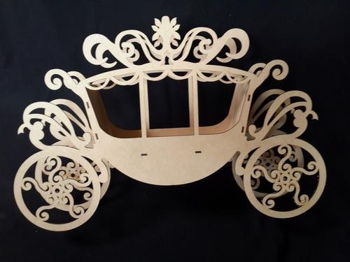 carreta carruaje de madera mdf centro de mesa gmca018