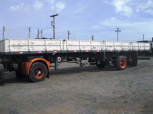 carreta c/s (porta container) krone branco (4627)