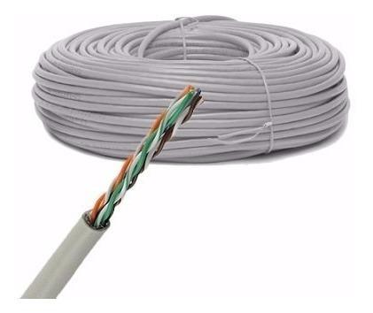 carreta de cable utp cat 6 interior 90% cobre 300 mt utp05