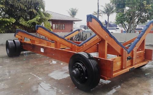 carreta de madeira para barcos