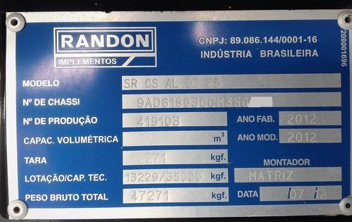 carreta estensiva prancha randon 18 / 29 m 2012 suspensão ar