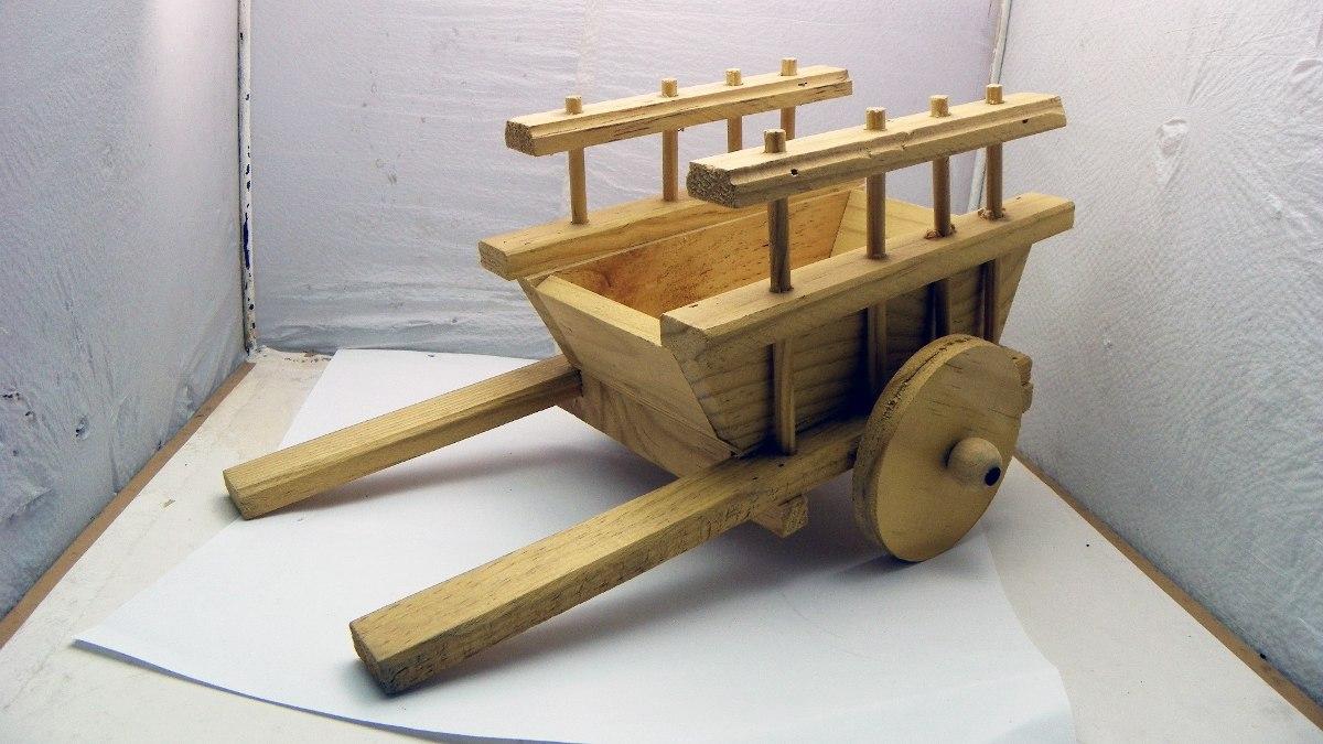 Carreta fabricada con madera fabulosa artesan a mexicana en mercado libre Artesanias en madera