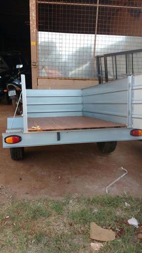 carreta fechada de chapa 2.00 x 1.20 x 0.60 - carretinha 0km