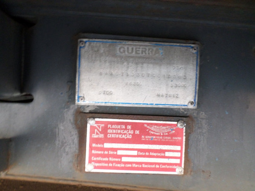 carreta guerra 1996 c/ lock para container c/pneus