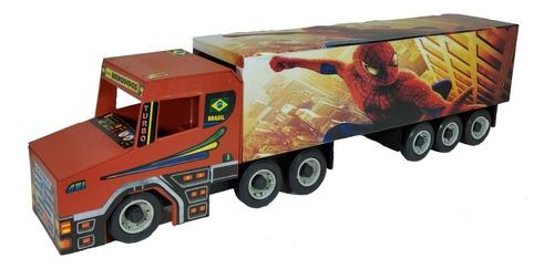 carreta infantil caminhão 6 eixos country em madeira