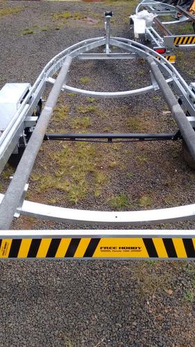 carreta lancha 18 pés 0 km galvanizada freehobby 2018
