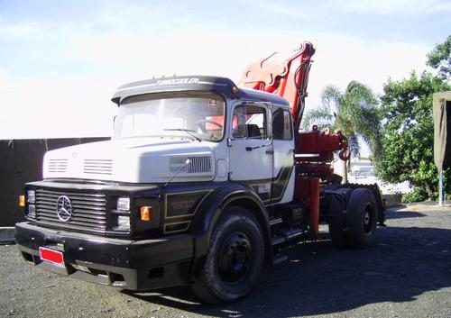 carreta munck cavalo caminhão munk mb 1933 guindaste