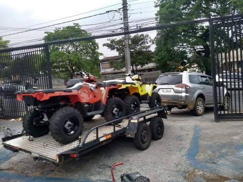 carreta para carro 2 eixos e freio transporte de veiculos