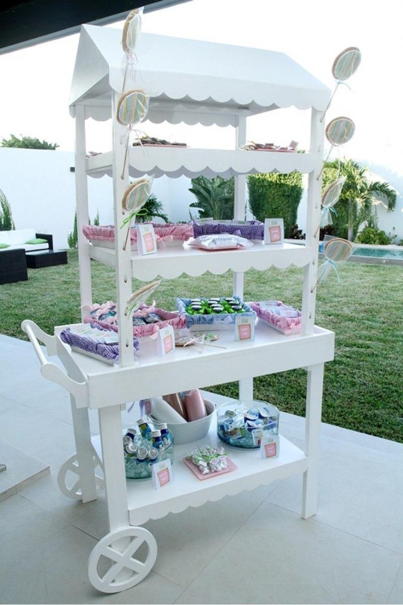 Carreta para mesa de dulces 2 en mercado libre for Mesas dulces para eventos