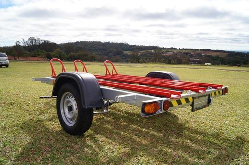 carreta para transp/ 3 motos - bravo chassi 02