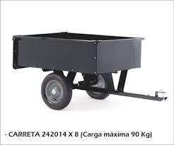 carreta para trator cortador de grama 227kg matsuyama