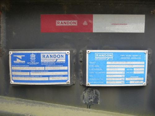 carreta porta container randon 20 40 pes 3 eixos c/ pneus